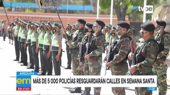 Arequipa: más de 5000 Policías resguardarán las calles en Semana Santa