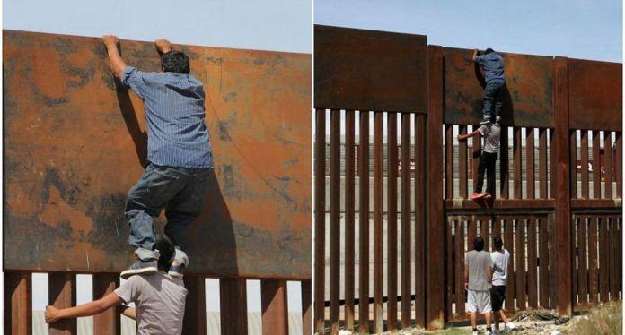 Resultado de imagen de ilegalñes crusando la frontera