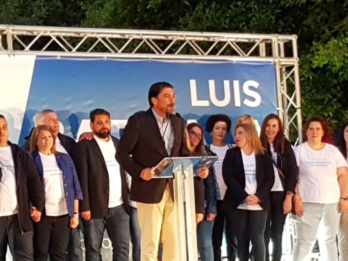 Luis Barcala cerrando el mitin final de campaña / Alex Ferrer