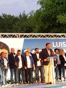 Luis Barcala junto a su candidatura / Alex Ferrer
