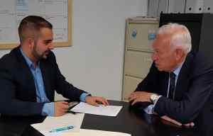 García-Margallo durante la entrevista / Alex Ferrer