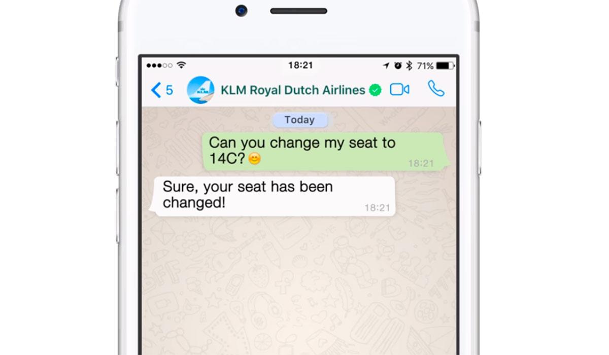 Resultado de imagen para KLM WhatsApp Business