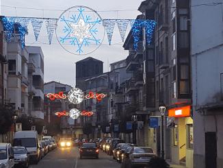 Decorado de luces de Navidad en Jaraíz de la Vera