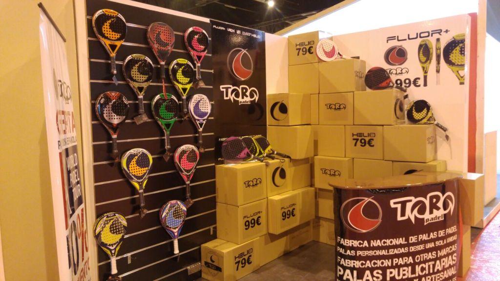 Stand de Toro Padel en el World Pádel Tour de Madrid