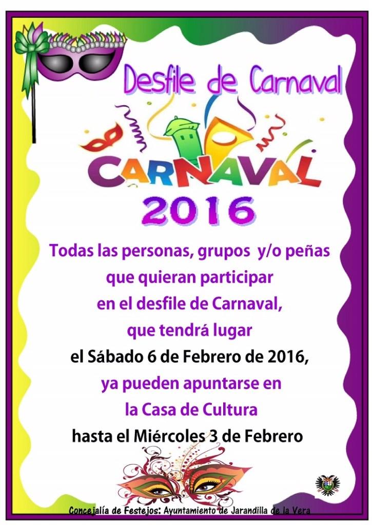Desfile de Carnaval 2016 en Jarandilla de la Vera