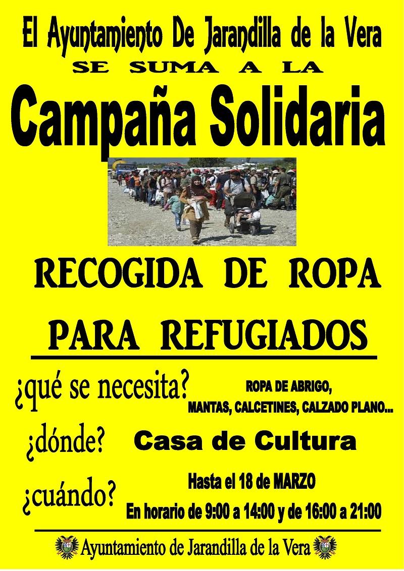 Recogida de ropa - Solidaridad Refugiados