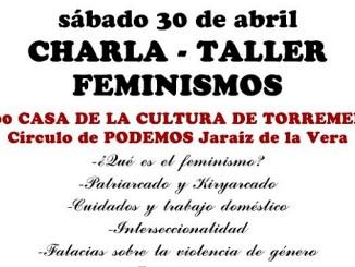 Charla-Taller sobre Feminismo e Igualdad de Géneros