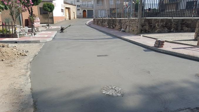 Pavimentadas varias calles en Jaraíz de la Vera