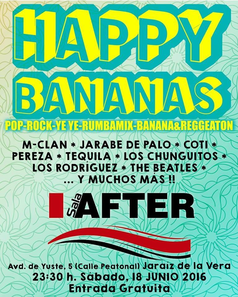 Happy Bananas en Sala After de Jaraíz de la Vera