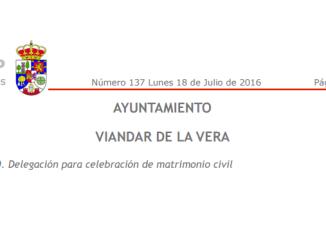 Delegación para celebración de matrimonio civil
