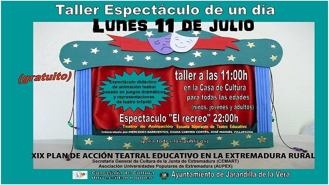 Espectáculo Teatral El Recreo