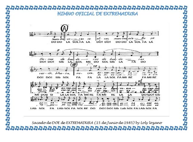 Letra del Himno de Extremadura