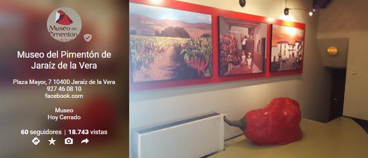 Museo del Pimentón en Google+