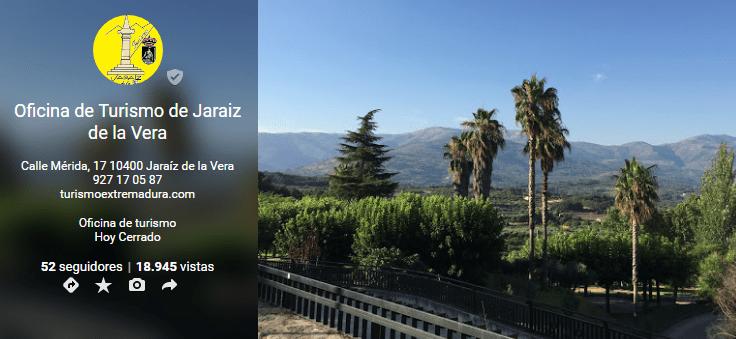 Oficina de Turismo de Jaraíz de la Vera en Google+