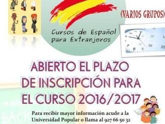 Curso de Español para Extranjeros en la Universidad Popular de Jaraíz de la Vera