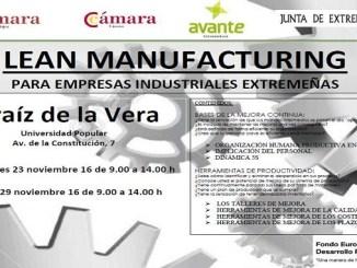 Jornadas de Lean Manufacturing en Jaraíz de la Vera del 23 al 29 de Noviembre