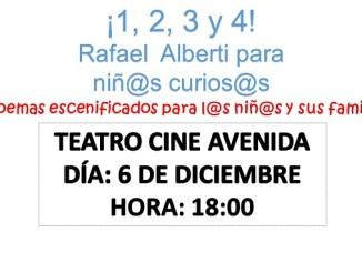 Teatro para niños el día 6 de diciembre en Jaraíz de la Vera