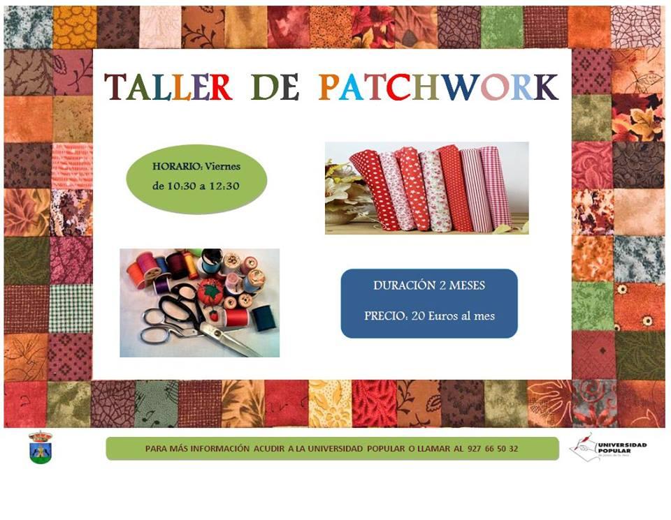 Taller de PatchWork en la Universidad Popular de Jaraíz de la Vera