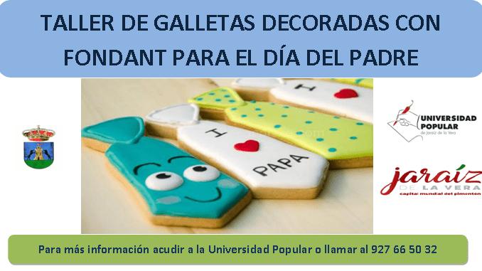 Taller de Galletas en la Universidad Popular el Día del Padre