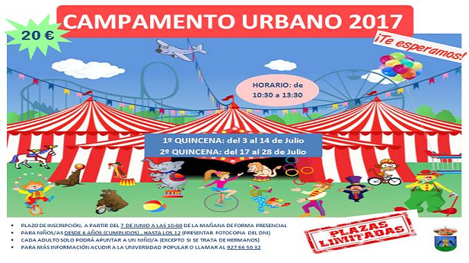 El lunes 7 de julio se abre el plazo de inscripción para los Campamentos Urbanos