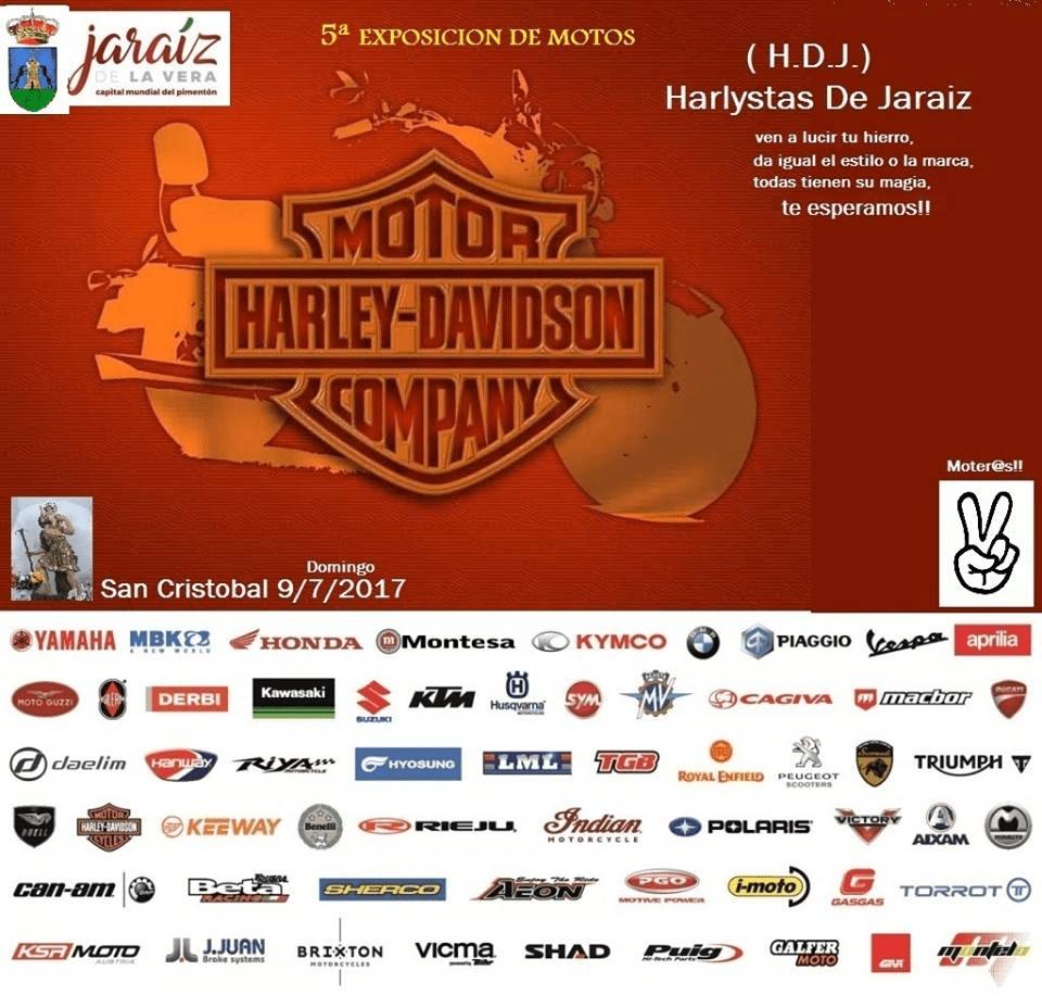 Quinta Expo Motos San Cristóbal 2017 en Jaraíz de la Vera