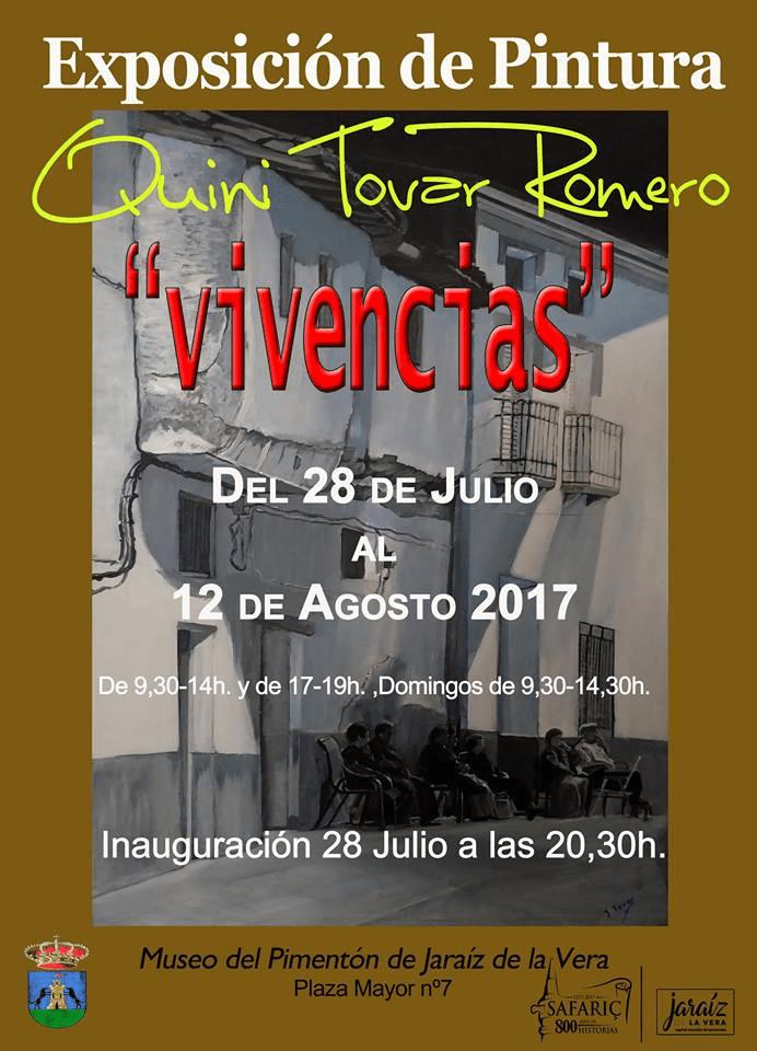 El artista jaraiceño Quini Tovar Romero expondrá Vivencias en el Museo del Pimentón