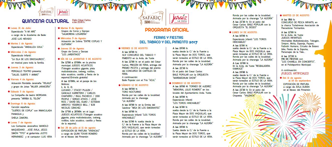 Quincena Cultural y Programa de Fiestas 2017