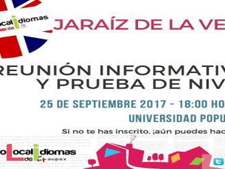 Reunión informativa en el Centro Local de Idiomas de Jaraíz de la Vera