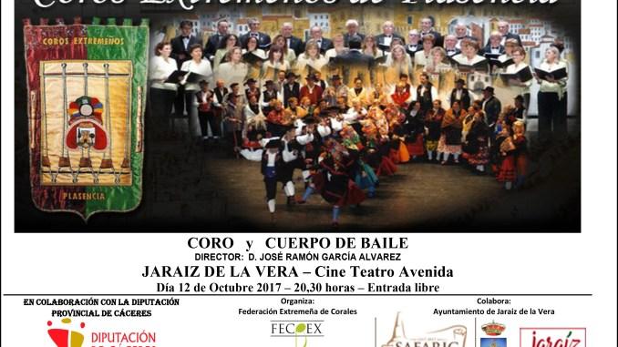 Coros Extremeños de Plasencia actuará el día 12 en Jaraíz de la Vera