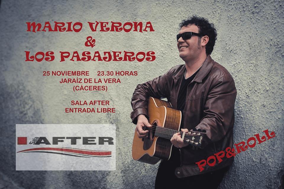 Concierto de Mario Verona & Los Pasajeros en Jaraíz de la Vera