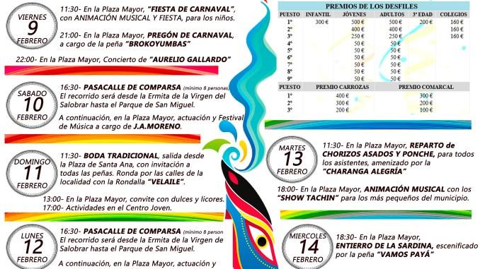 Programación Carnaval de Jaraíz de la Vera 2018