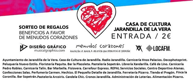 Gala benéfica para Menudos Corazones Jarandilla de la Vera