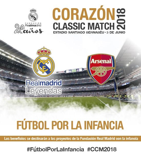 Real Madrid Leyendas - Arsenal Legends Corazón Classic Match 2018