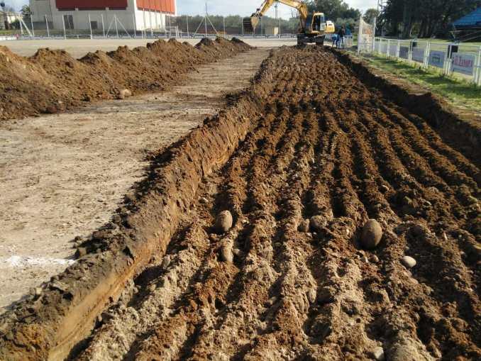 Comienza las obras en el Campo de Fútbol de C.F. Jaraíz casi una década después