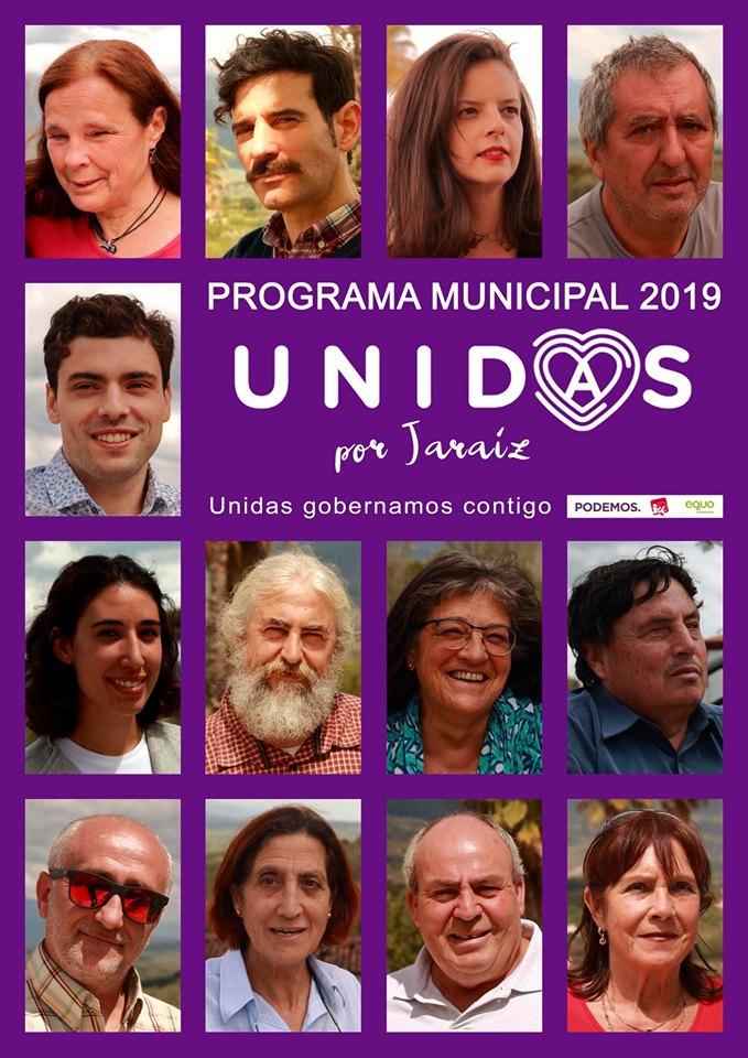 Candidatura y Programa Electoral de Unidas Por Jaraíz - Podemos - Iu - Equo