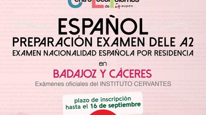 """Abierto el plazo de inscripción para el """"CURSO OFICIAL DE ESPAÑOL DELE A2"""""""