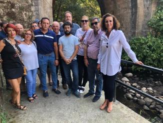 El PSOE de la Comarca y la Consejera para la Transición Ecológica y Sostenibilidad, Olga Martín
