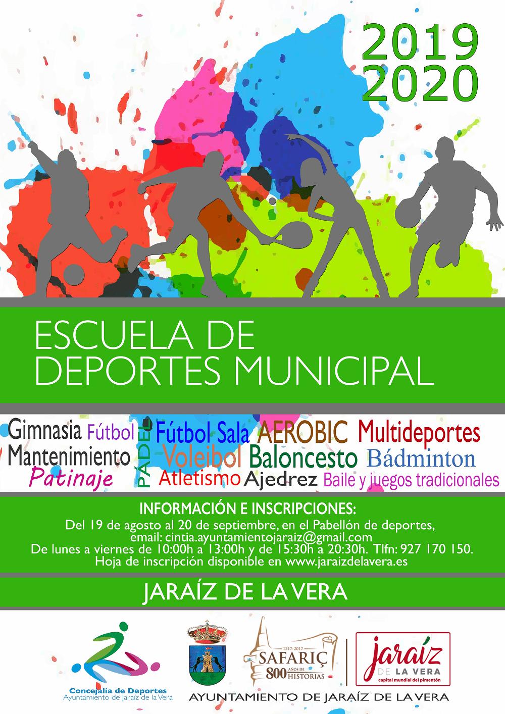 01 Escuela de Deportes Municipal de Jaraiz de la Vera 2019