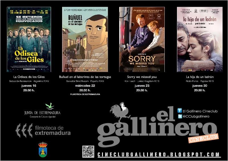 Cineclub El Gallinero Enero