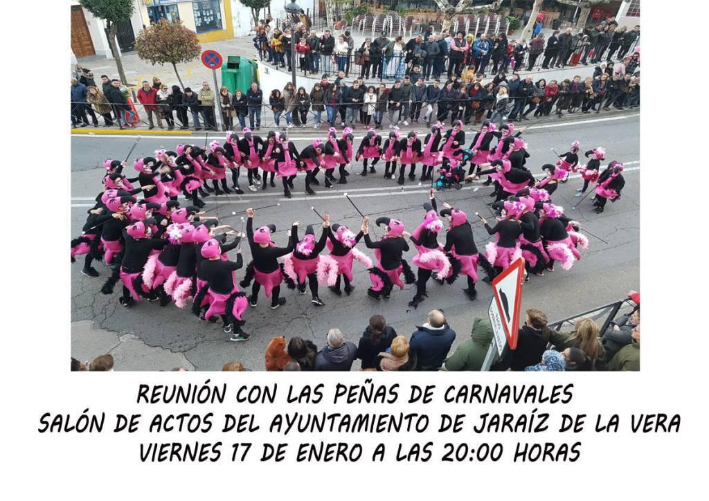 Reunión-con-las-peñas-de-Carnavales-2020-Jaraíz-de-la-Vera-Cáceres