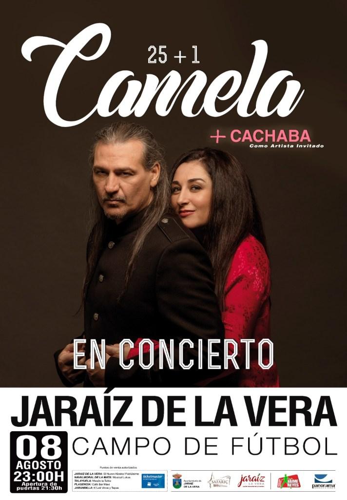 Camela actuará en Jaraíz de la Vera el 8 de agosto de 2020 con su gira 25+1