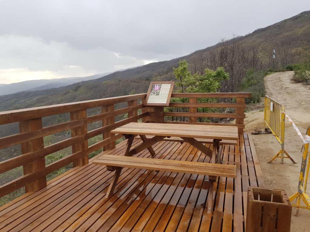 La Diputación construye un mirador con vistas al Monasterio de Yuste