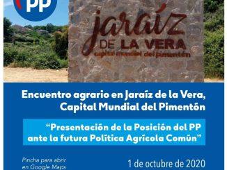 """Encuentro agrario en Jaraíz de la Vera """"Presentación de la posición del PP ante la futura PAC"""""""
