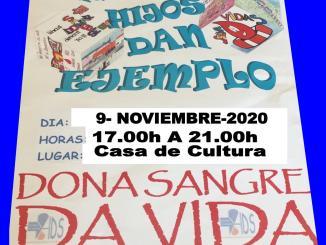 Donación de Sangre lunes 9 de noviembre en la Casa de Cultura de Jarandilla de la Vera