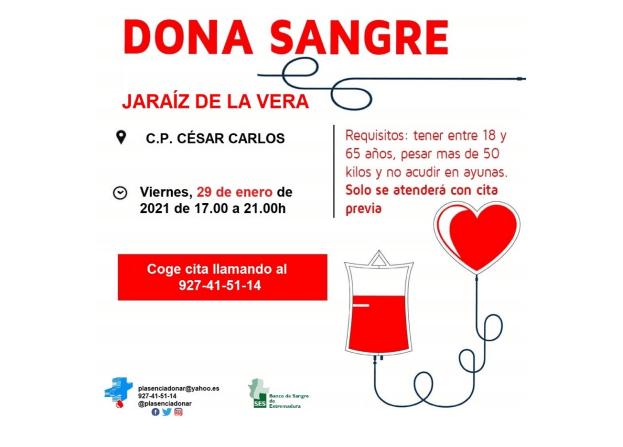 Donacion de sangre en Jaraiz de la Vera