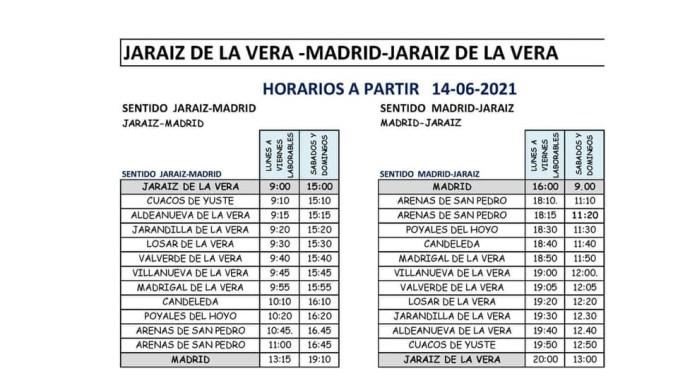 Horario de Autobuses LaVera-Madrid-LaVera