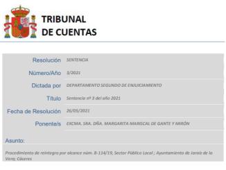 Sentencia - Tribunal de Cuentas