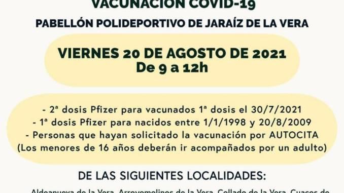 20 de agosto 2021 - vacunaciones