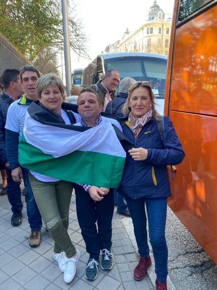 autónomos veratos en la manifestación de autónomos de Madrid