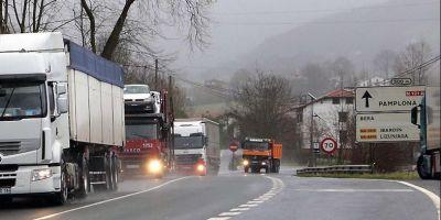 Gobierno de Navarra, tráfico, camiones, N-21-A